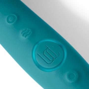 Зеленый двусторонний вибратор Sway - 22,3 см.