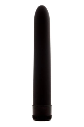Черный классический вибратор - 17,5 см.