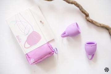 Набор из 2 сиреневых менструальных чаш Orchid