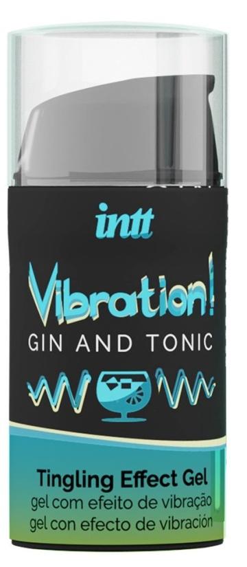 Жидкий интимный гель с эффектом вибрации Vibration! Gin & Tonic - 15 мл.