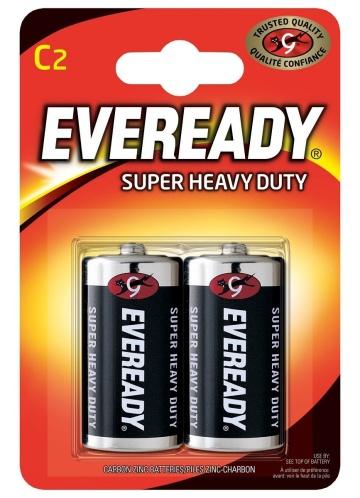 Батарейки EVEREADY SUPER R14 С 1,5V - 2 шт.