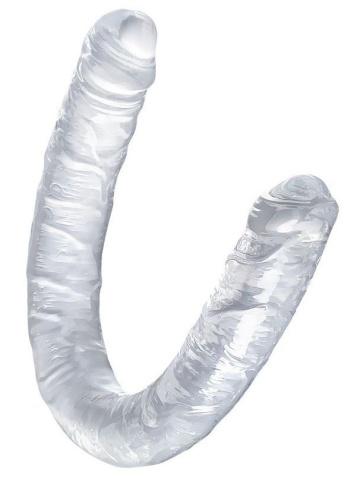 Прозрачный двухсторонний фаллоимитатор Double Dildo - 40 см.