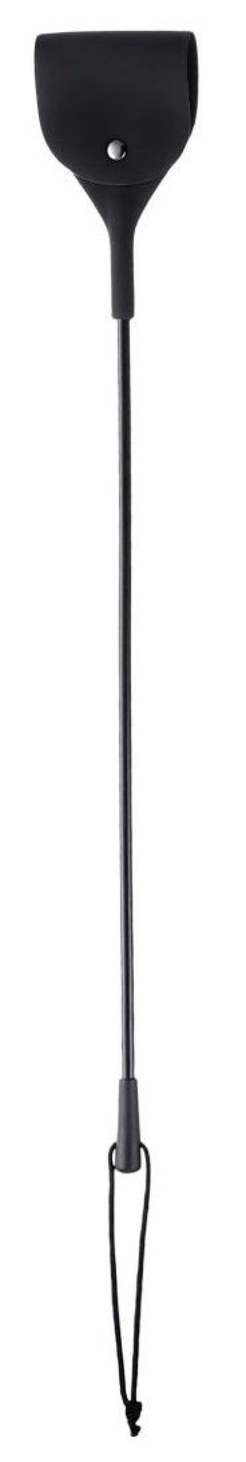 Черный гладкий стек с тонкой ручкой - 48 см.