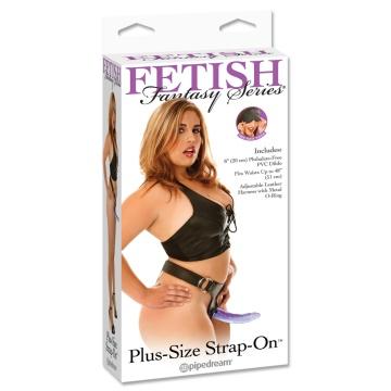Фиолетовый страпон Plus Size Strap-On для дам размера plus size - 21 см.