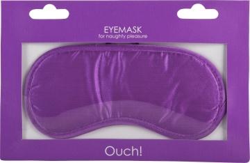 Фиолетовая плотная маска для сна и любовных игр