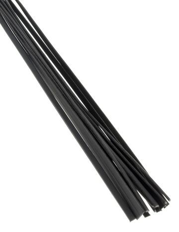 Чёрная плетка Deluxe Cat O' Nine - 62 см.