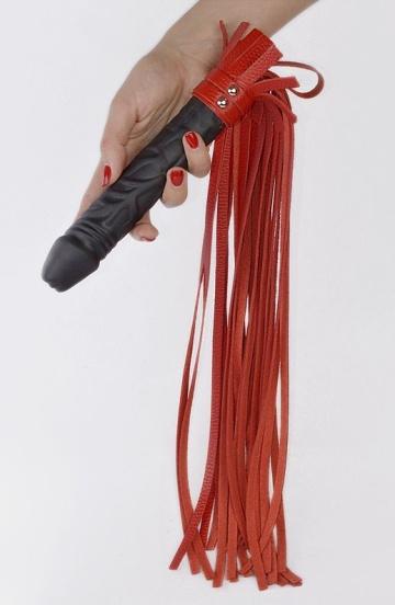 """Плеть """"Ракета"""" с красными хвостами - 65 см."""