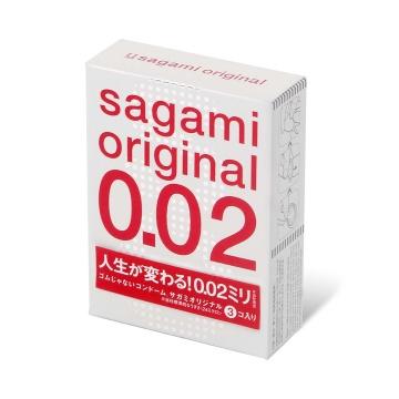 Ультратонкие презервативы Sagami Original 0.02 - 3 шт.