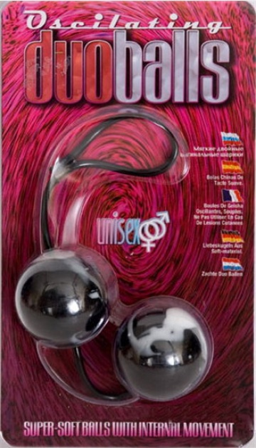 Чёрно-белые вагинальные шарики Duoballs