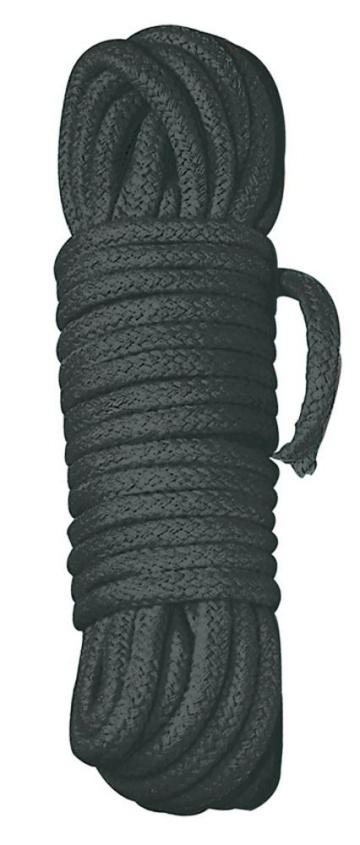 Черная веревка для бандажа - 10 м.