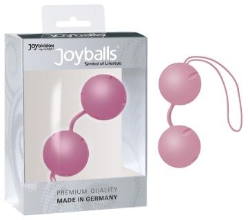 Нежно-розовые вагинальные шарики Joyballs с петелькой