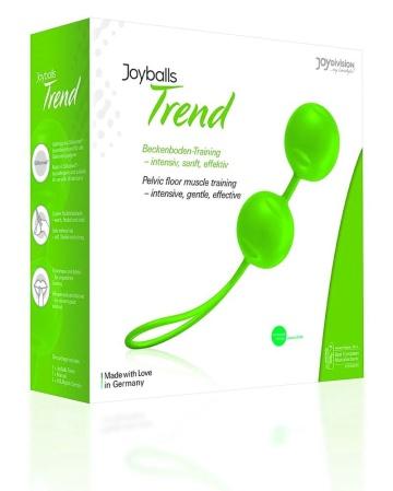 Зелёные вагинальные шарики Joyballs Trend