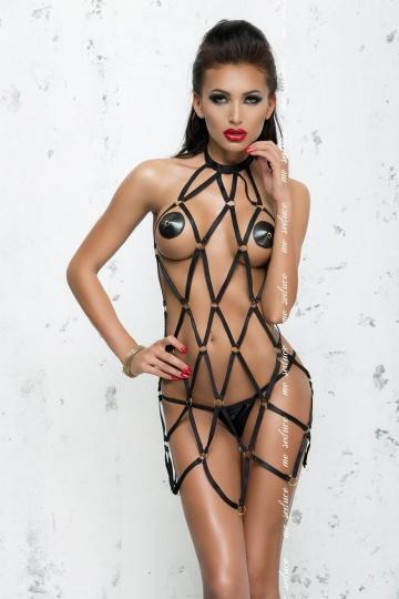 Платье в виде сетки из стреп-лент Anita