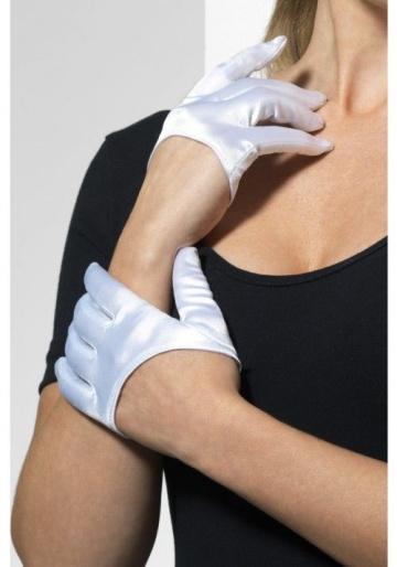 Ультракороткие атласные перчатки