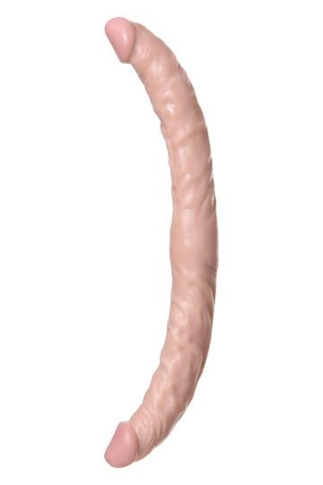 Двусторонний фаллоимитатор Realstick Nude - 34 см.