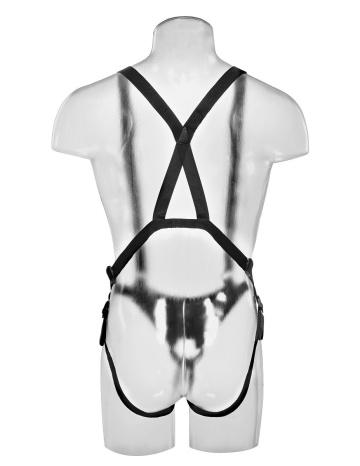 """Страпон-система с телесной насадкой 11"""" Hollow Strap-On Suspender System - 28 см."""