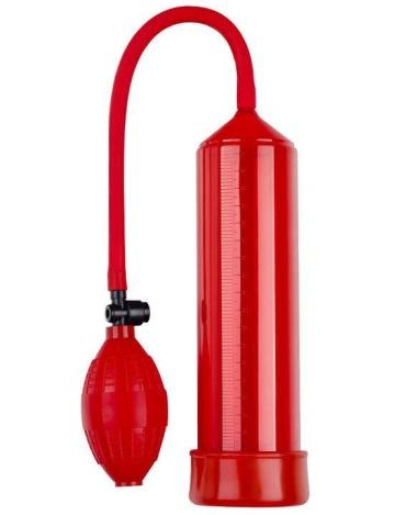Красная вакуумная помпа Eroticon PUMP X1 с грушей