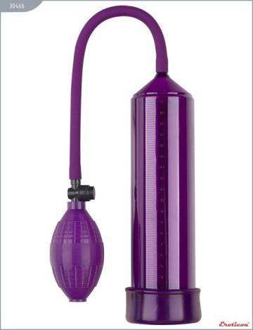 Фиолетовая вакуумная помпа Eroticon PUMP X1 с грушей