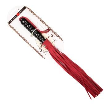 Яркая плеть из бордовой замши – 29 см.