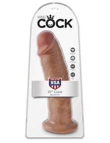 "Фаллоимитатор-мулат большого размера 10"" Cock - 25,4 см."