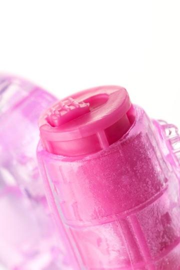 Розовое эрекционное виброкольцо из эластичного геля