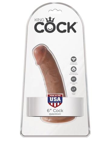 """Фаллоимитатор-мулат на присоске 6"""" Cock - 15,2 см."""