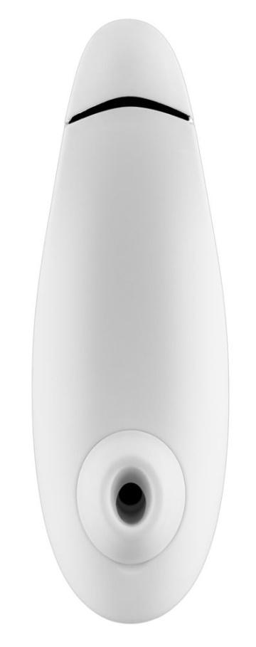 Белый бесконтактный клиторальный стимулятор Womanizer Premium