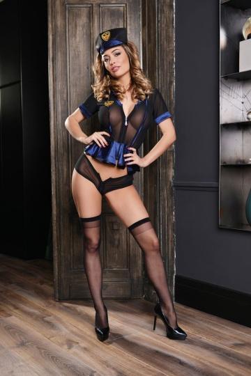 Чёрно-синий костюм полисвуман