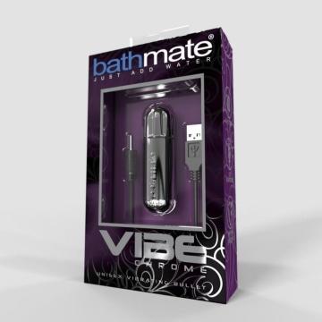 Серебристая перезаряжаемая вибропуля Bathmate Vibrating Bullet Vibe Chrome