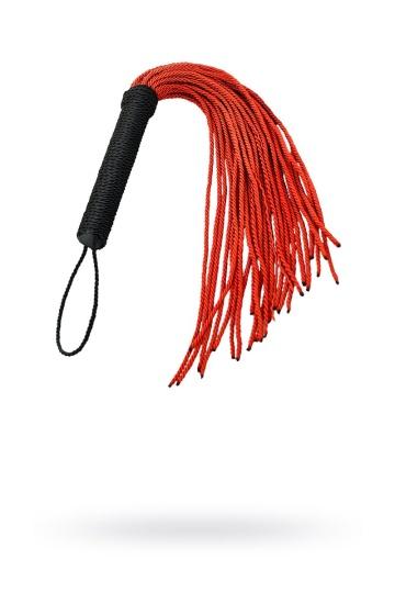 Красно-черный флоггер из веревки TOYFA Theatre - 48,5 см.